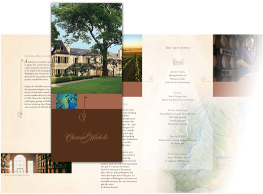Brochure design for Chateau Ste. Michelle wines
